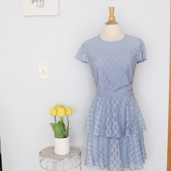 Gal Meets Glam Dresses & Skirts - Gal Meets Glam Daisy Lace Pale Blue Lace Dress 16